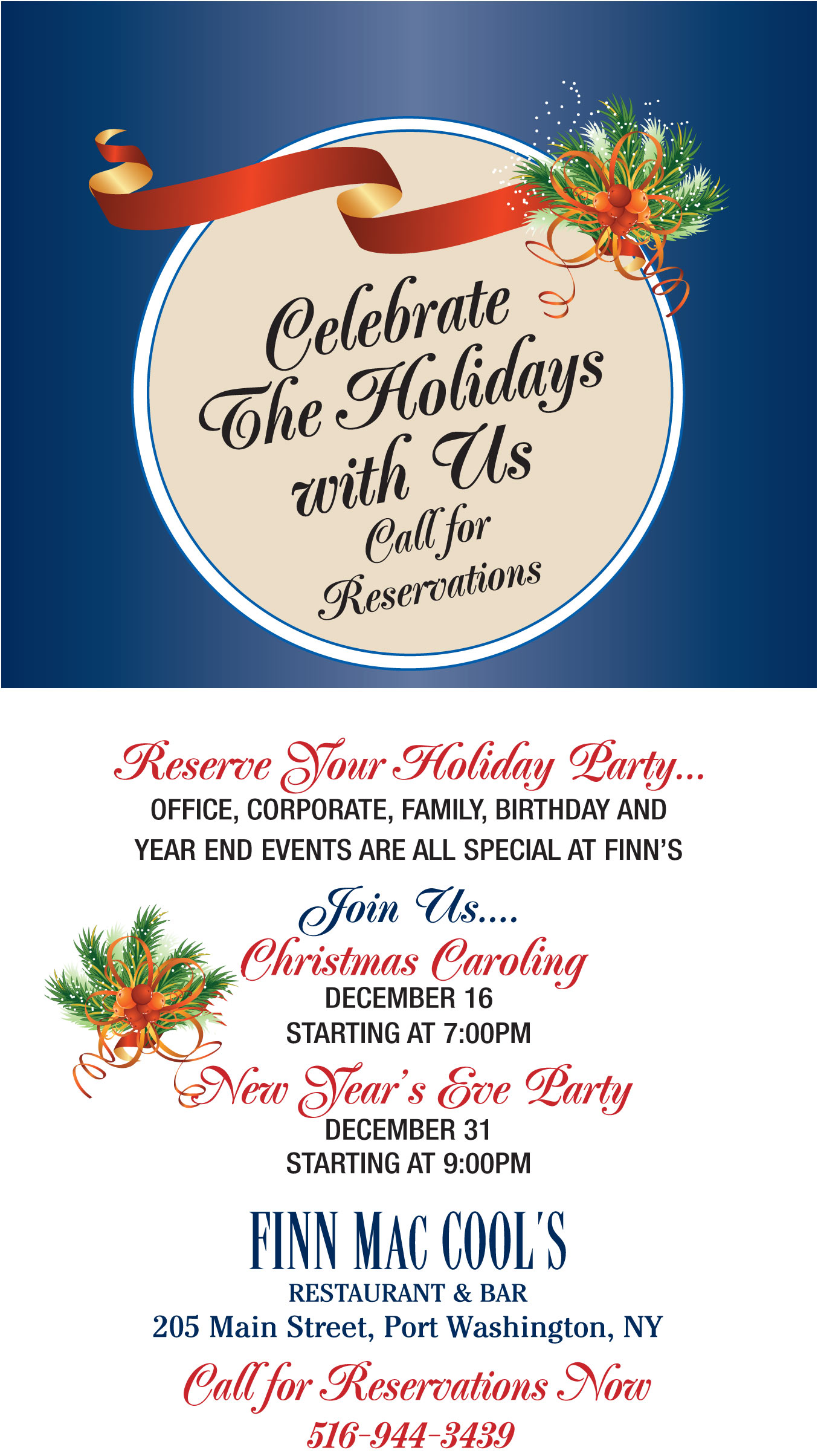 Celebrate The Holidays with Us